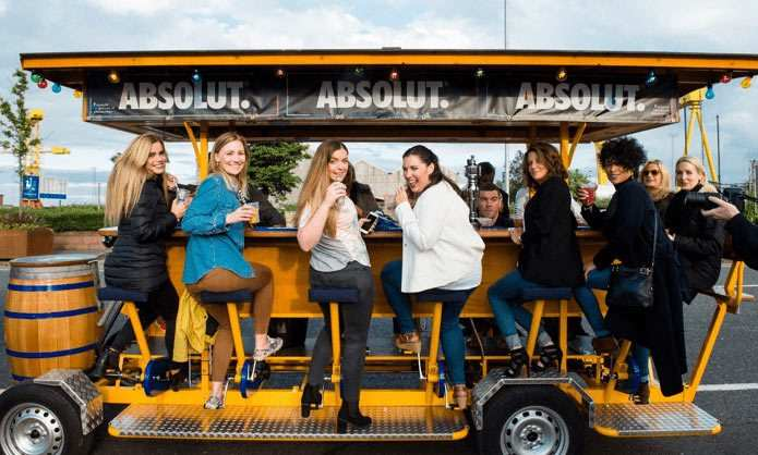 Wee Toast Tours Branded Corporate Event For Absolute Vodka