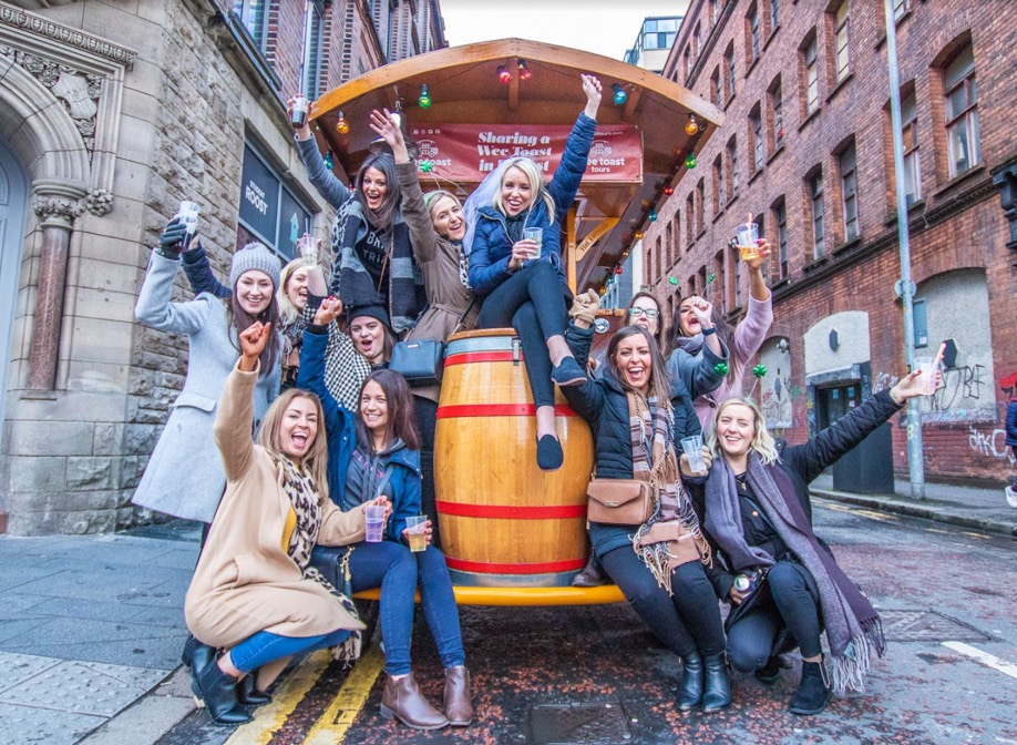 Hen party on a Wee Toast Tour in Belfast City Centre