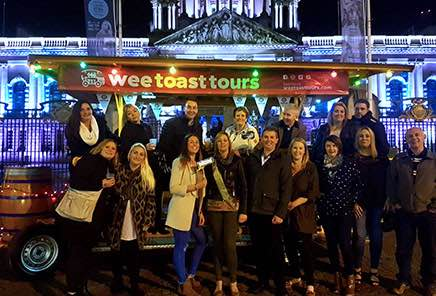 Wee Toast group outside Belfast City Hall