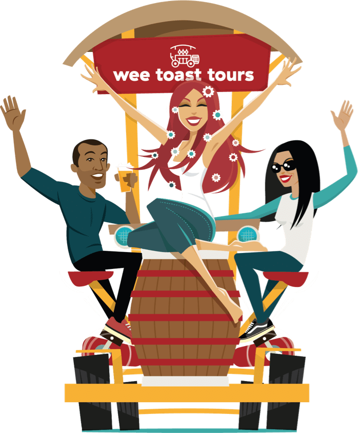 Wee Toast Tours bike group illustration
