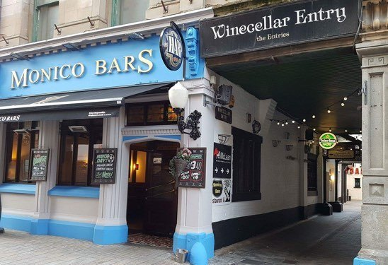 Belfast's Monico Bars on Winecellar Entry