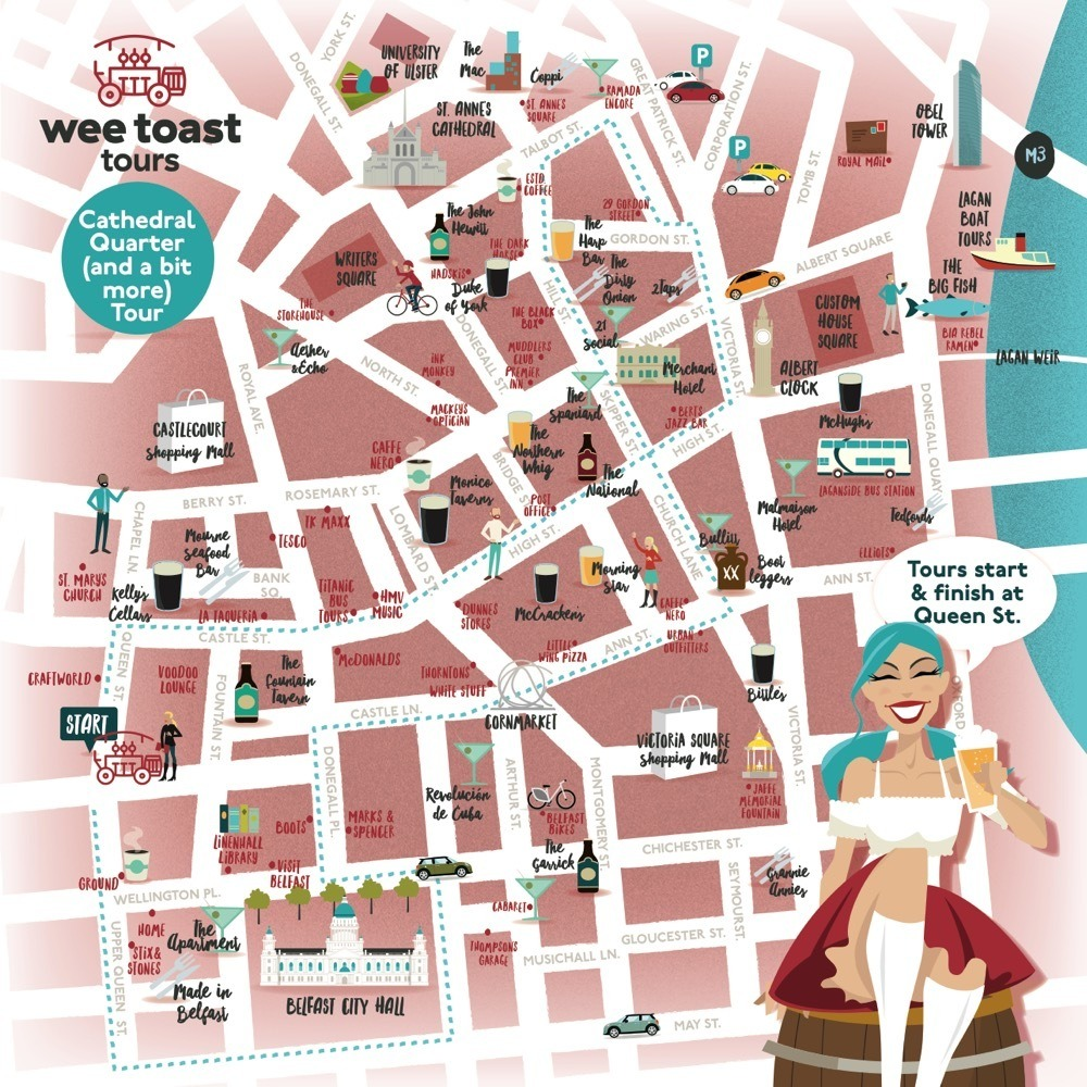 Belfast Cathedral Quarter - Wee Toast Tours - Belfast\'s Original 15 ...