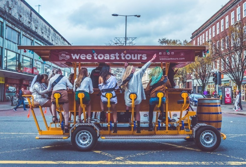 Wee Toast Tours, Pedal Bar Bike in London